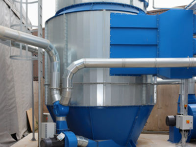 Dustrax dust extraction unit at DFS factory