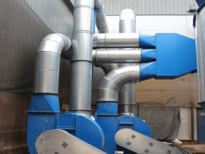 dust extraction unit at woodworking factory