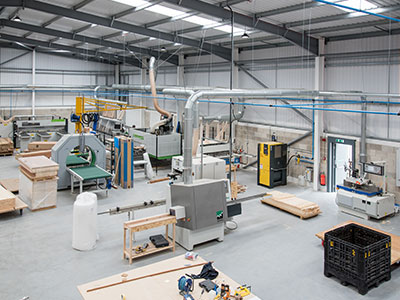 Wood waste dust extraction system for Door & Joinery Solutions